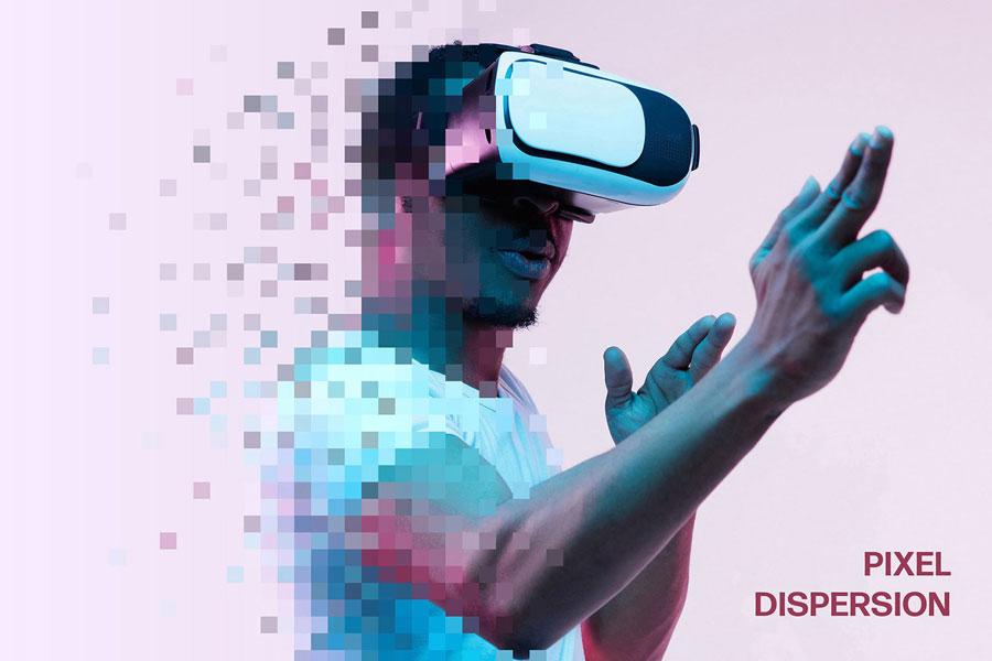 Pixel Dispersion Photo Effect