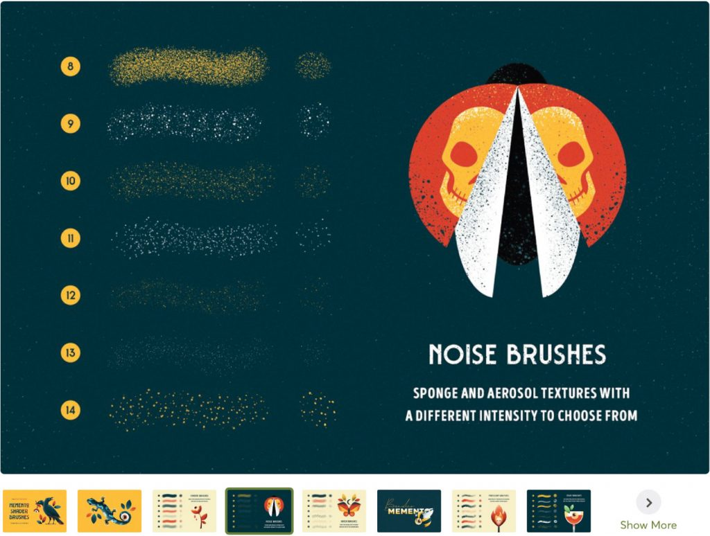 Shader Brushes for Illustrator by Pixelbuddha