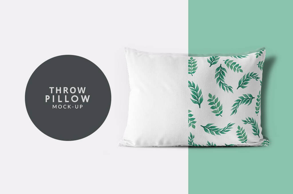 Throw Pillow Cover PSD Mockup for Free