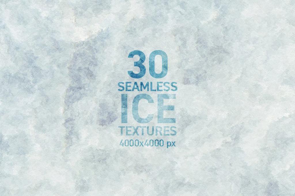 30 Seamless Ice Textures