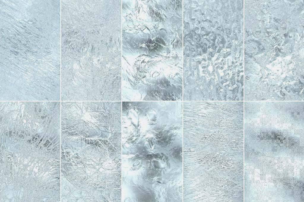 50 Seamless Ice Patterns Bundle