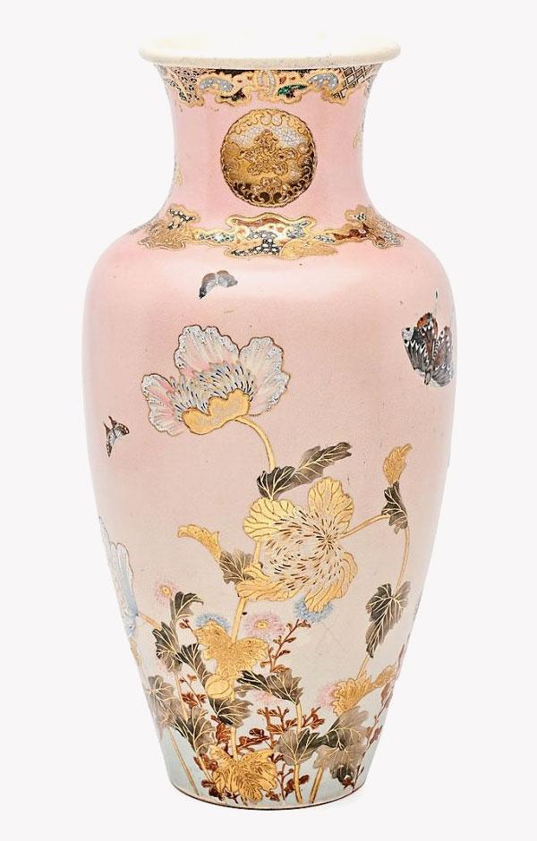 An Art Nouveau style Japanese vase