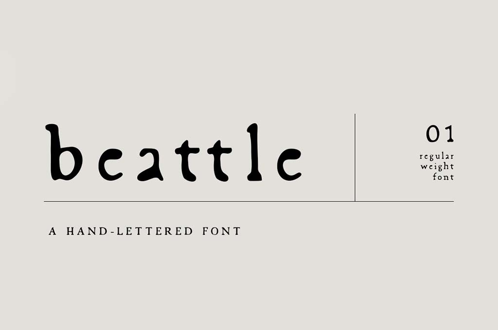 Beattle : Hand-Lettered Font