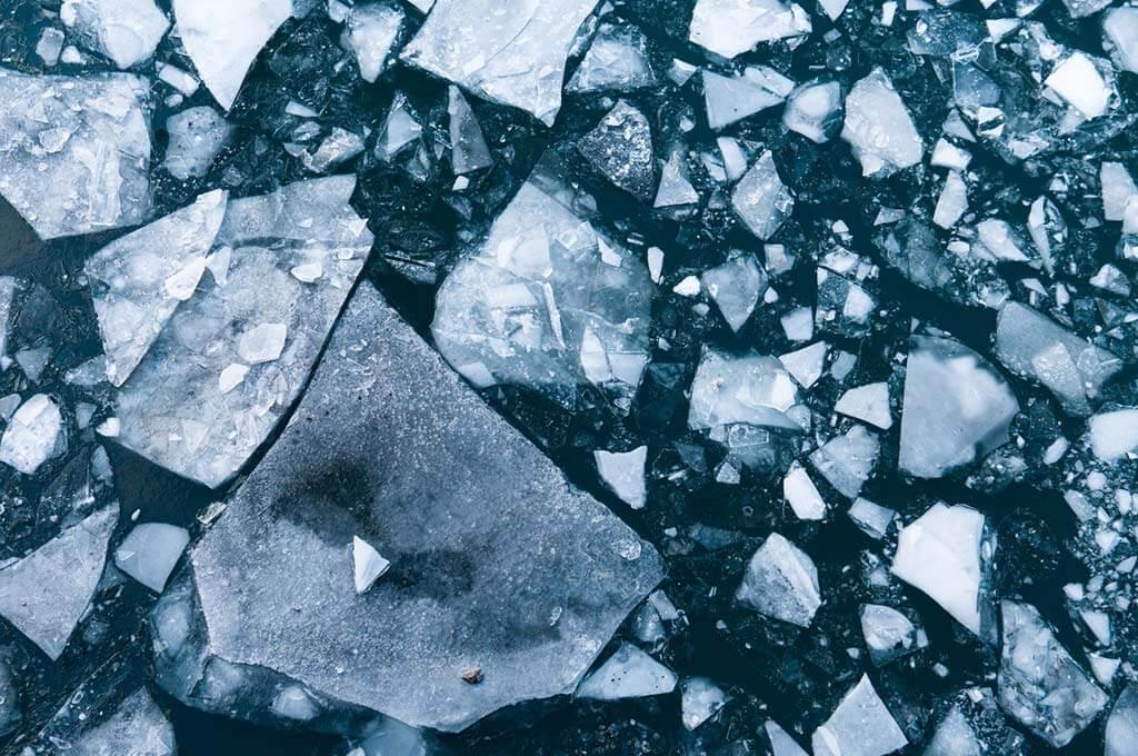 Broken Tiles on Road Photo
