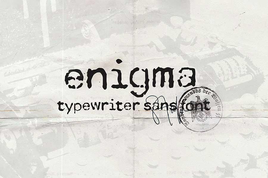 Enigma Typewriter Font