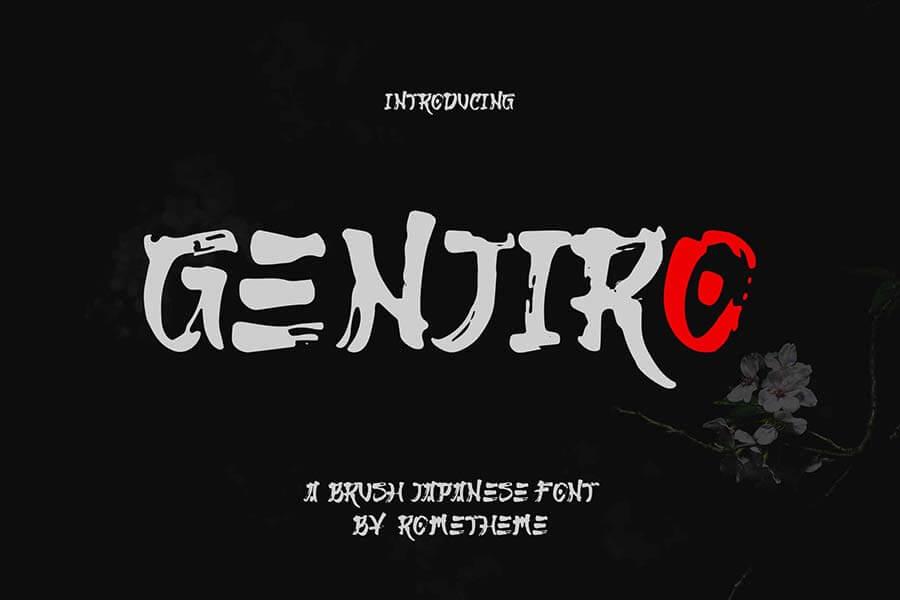 Genjiro - Japanese Font YR