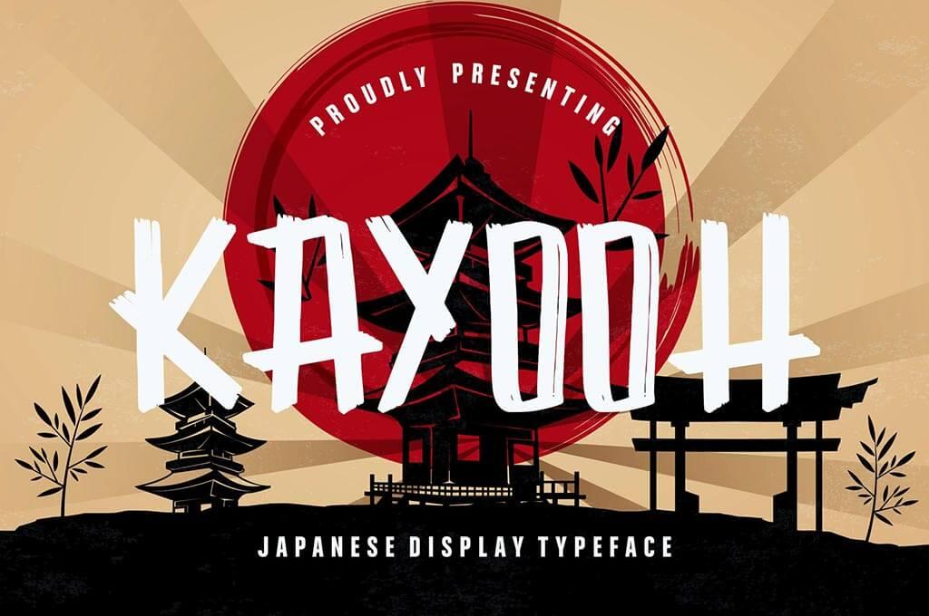 Kayooh Japanese Display Typeface