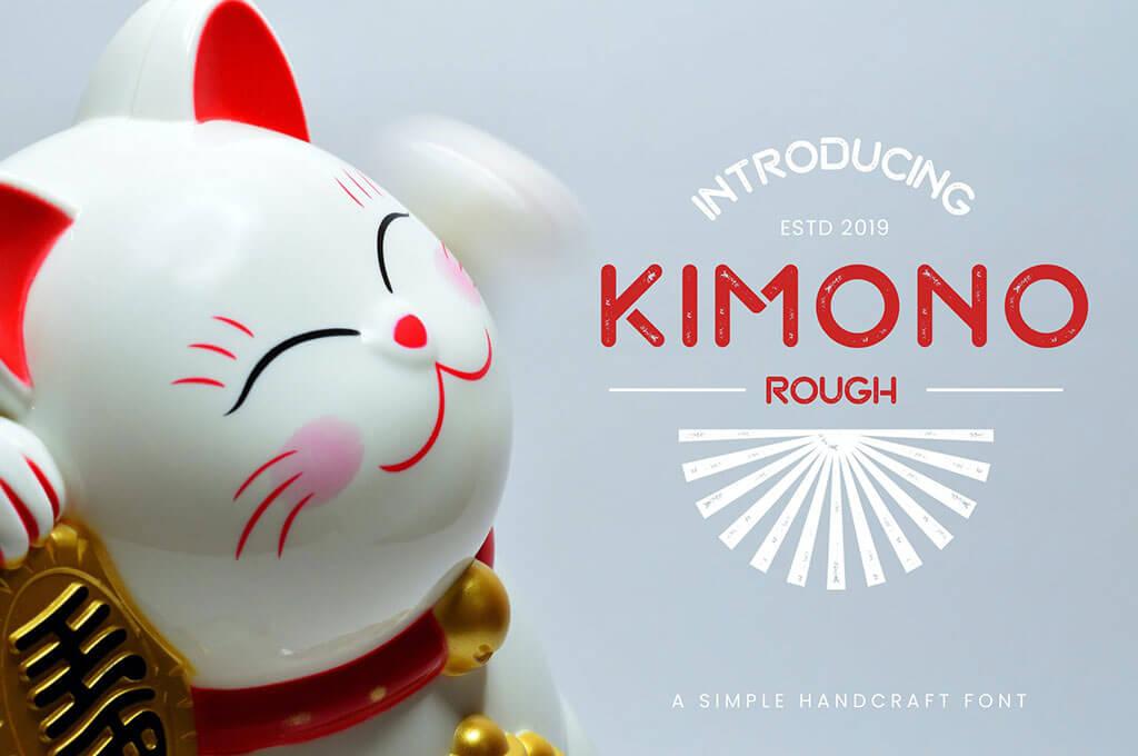 Kimono - Japanese Display Typeface