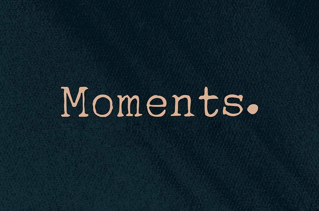Moments Typewriter Font