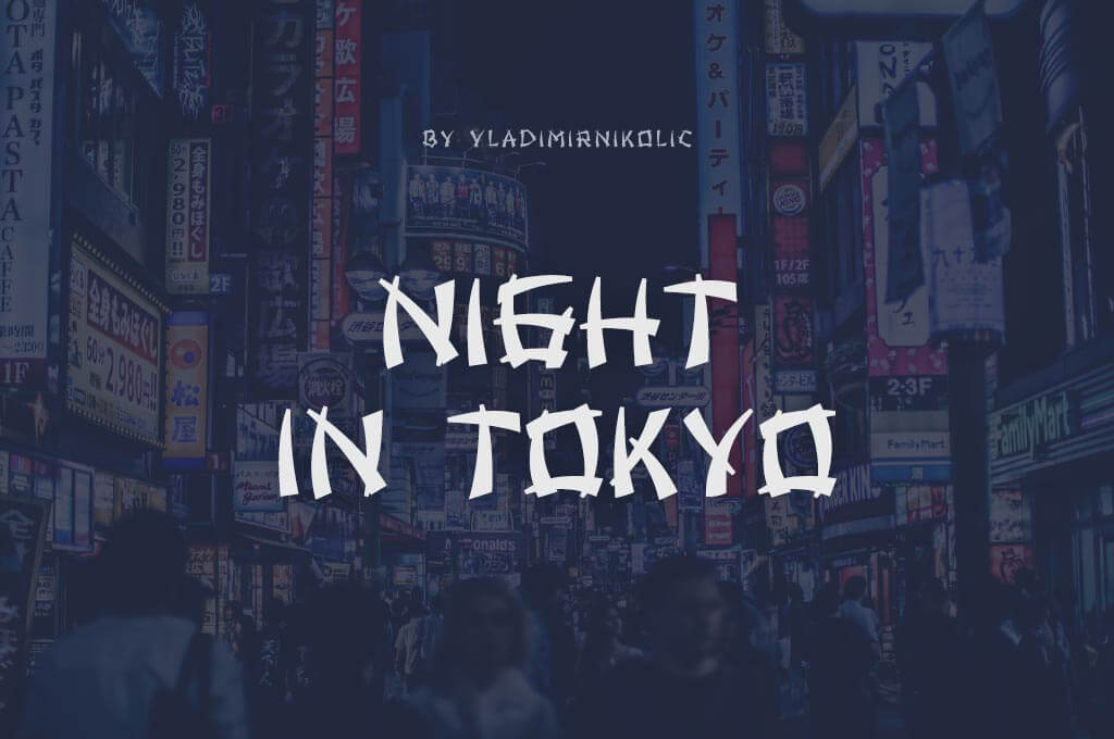 Night in Tokyo Font Family