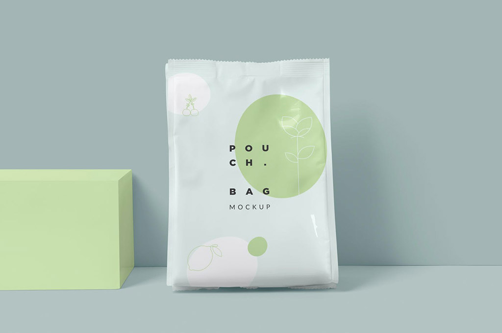 Paper Pouch Bag Mockup — Large Size