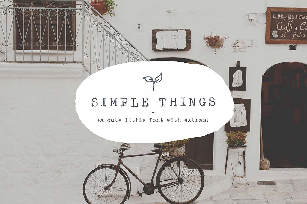 Simple Things — Cute Little Font