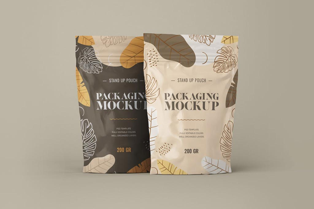 Stand Up Pouch Mockup Set