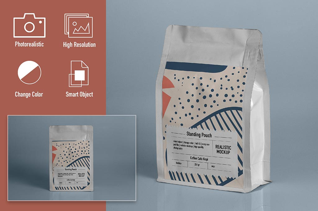 Standing Pouch Mockup