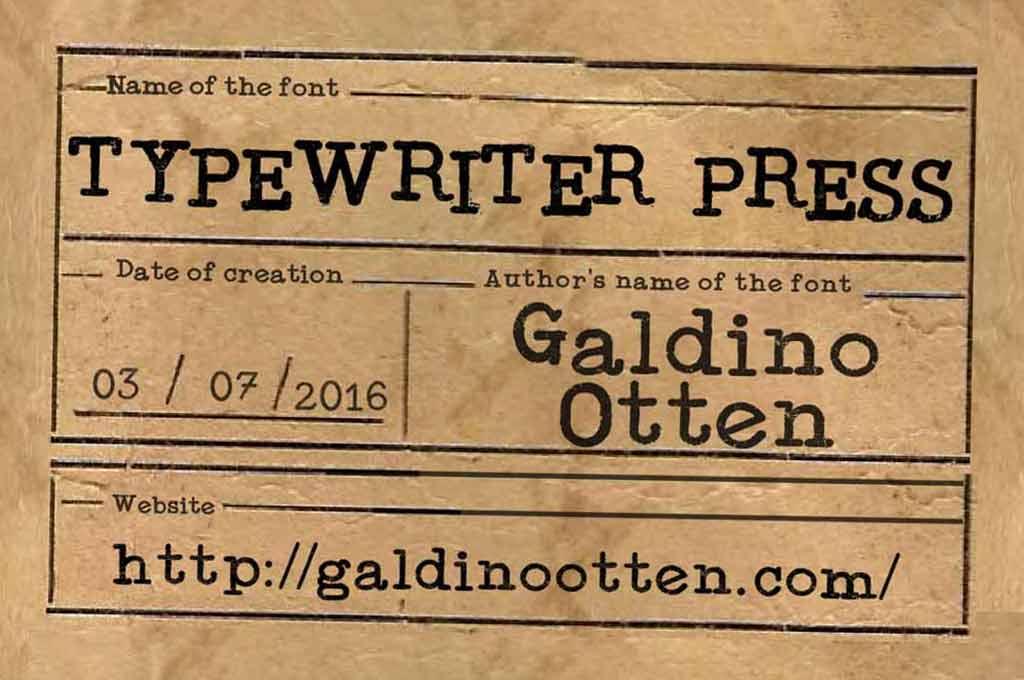 Typewriter Press Font