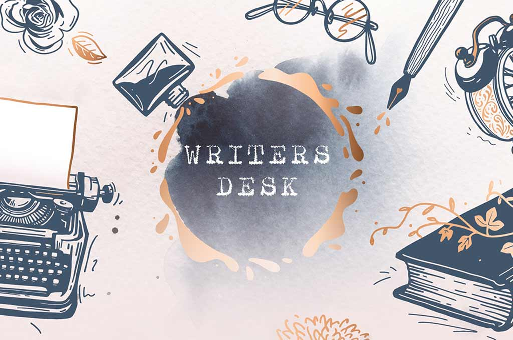 Writer's Desk — Illustrations & Font