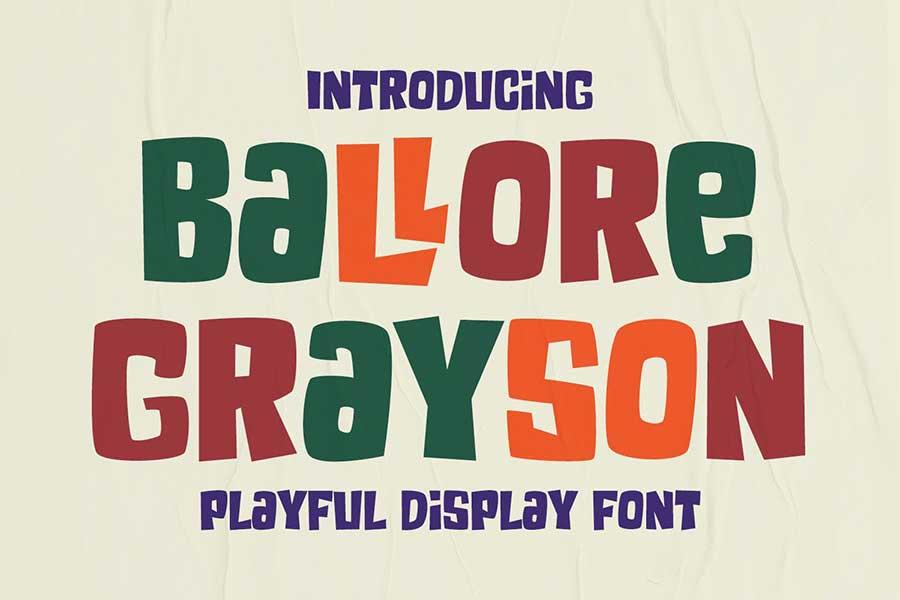 Ballore Grayson - Fun Display Font