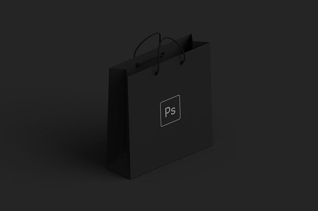 Dark Shopping Bag Mockup