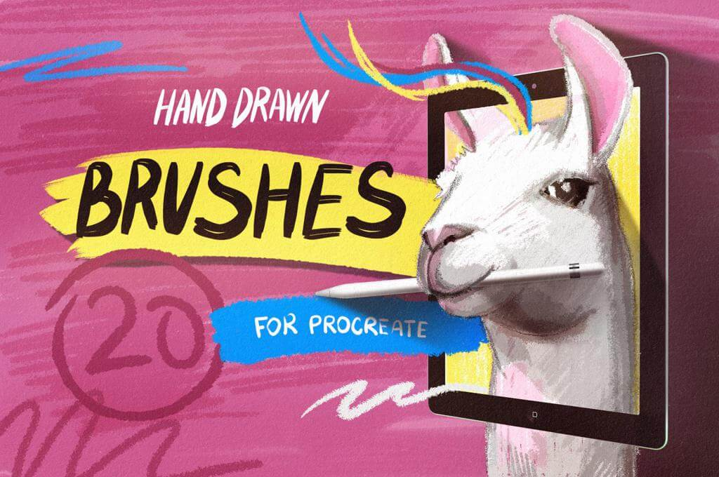 Essential Hand Drawn Brushes for Procreate
