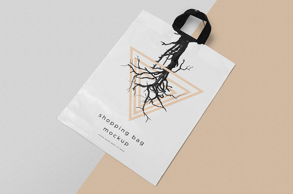 Free Polythene Shopping Bag Mockup