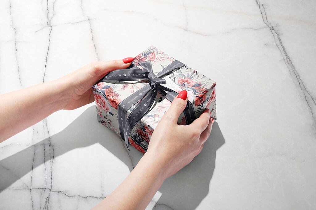 Gift Box Wrapping Paper Mockup Set