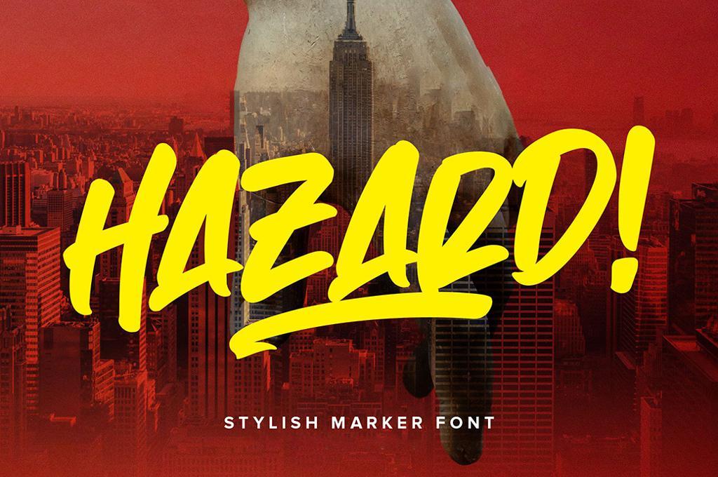 Hazard Marker Font