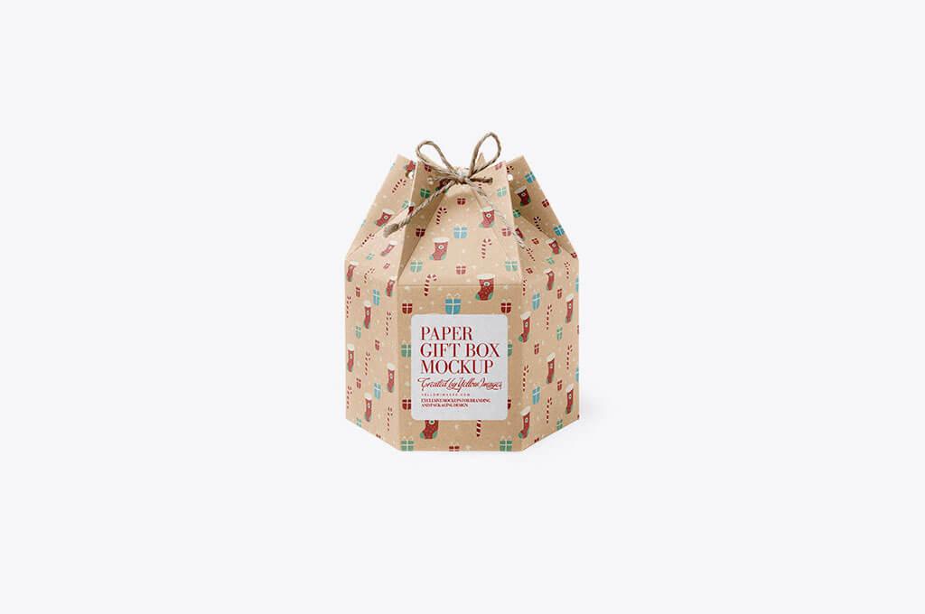 Kraft Paper Gift Box Mockup
