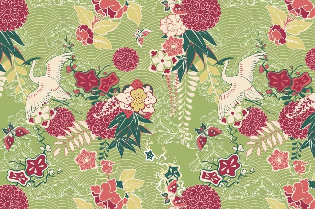 Oriental silk pattern