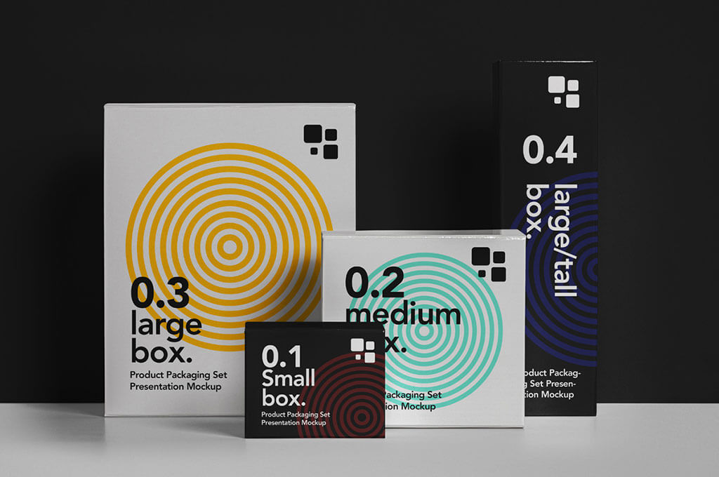 Packaging Psd Box Mockup Set