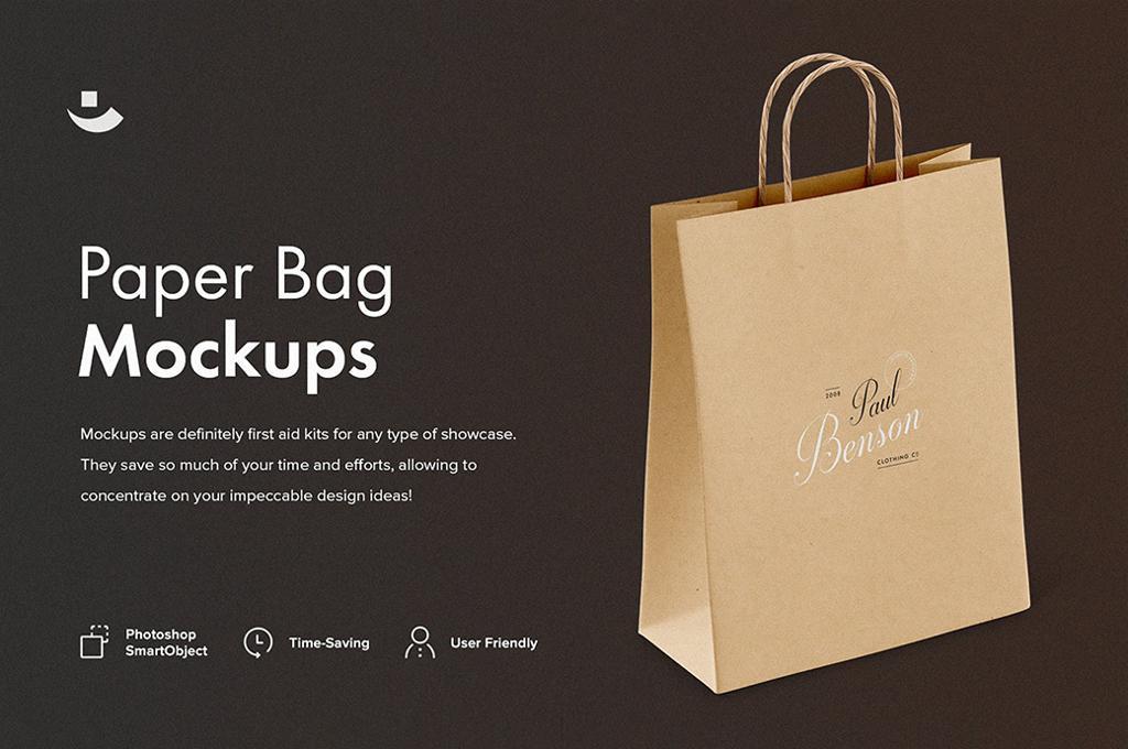 Paper Bag Mockup Set
