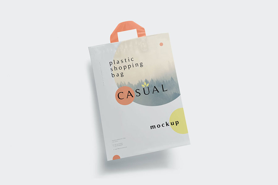 Plastic Shopping Bag Mockups