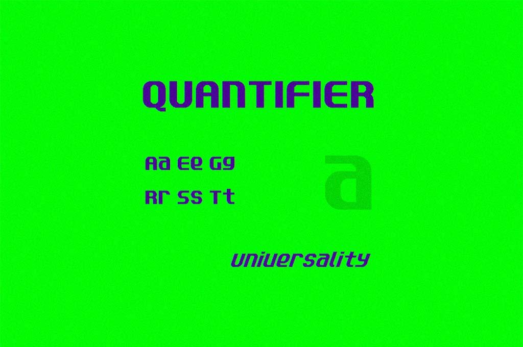 Quantifier NBP Font