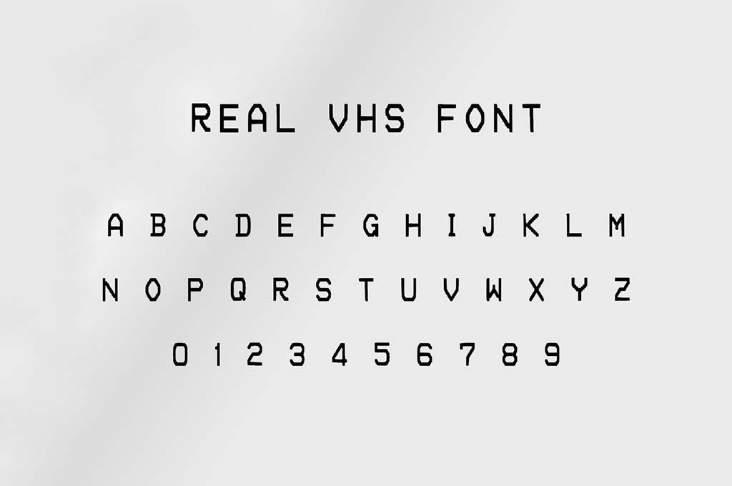 Real VHS Font