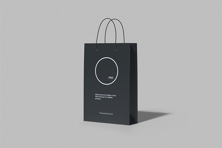 Shopping Bag Paper Mockup