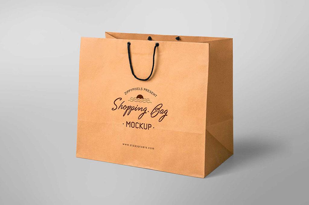 Simple Free Shopping Bag Mockup