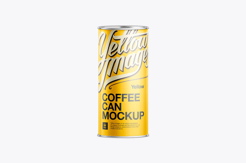 550g Metal Coffee Can Mock-Up