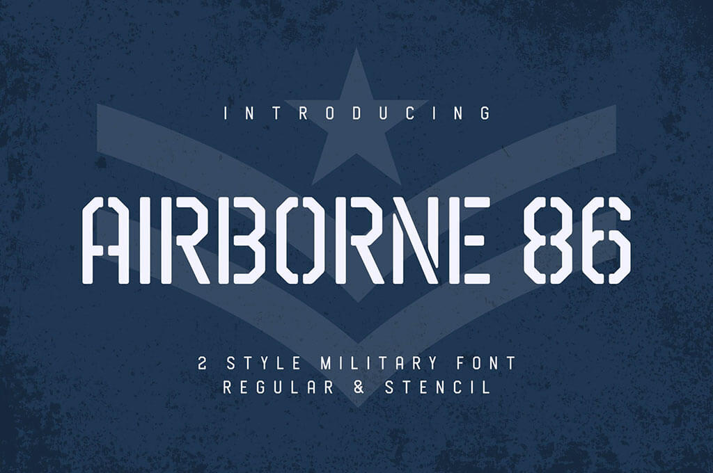 Airborne 86 - Military Font