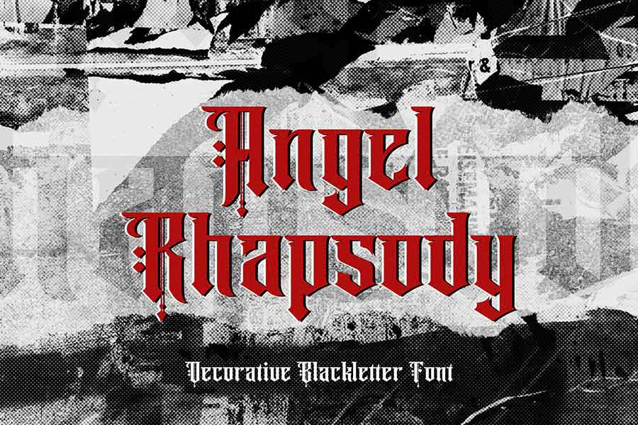 Angel Rhapsody — Gothic Font