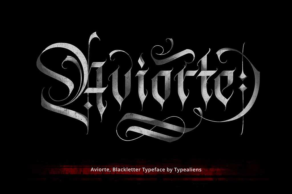 Aviorte Blackletter Font