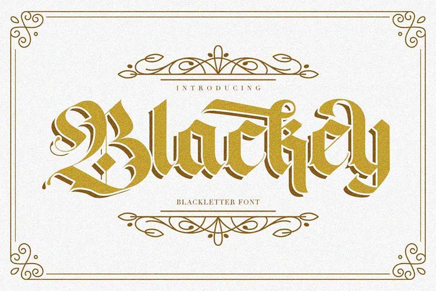Blackey Bold Decorative Gothic Blackletter Font