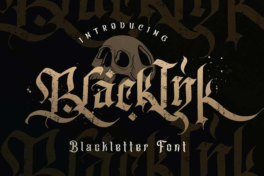 Blackink — Blackletter Font