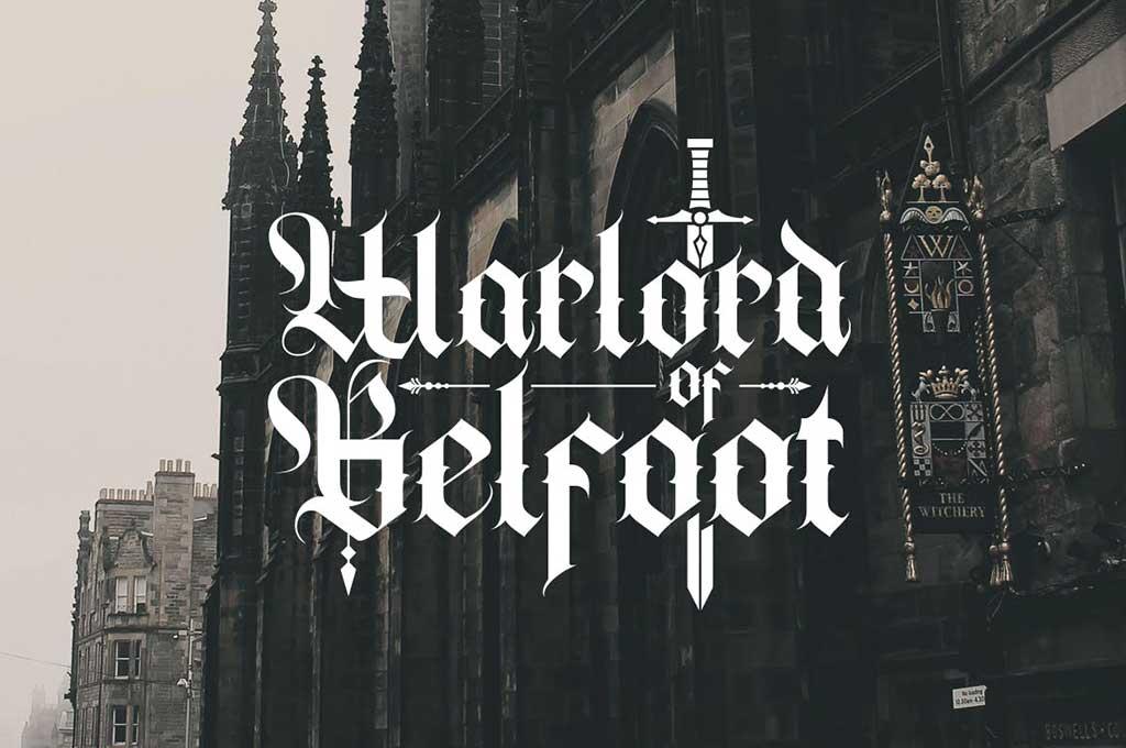 Cambridge — Bold Decorative Gothic Font