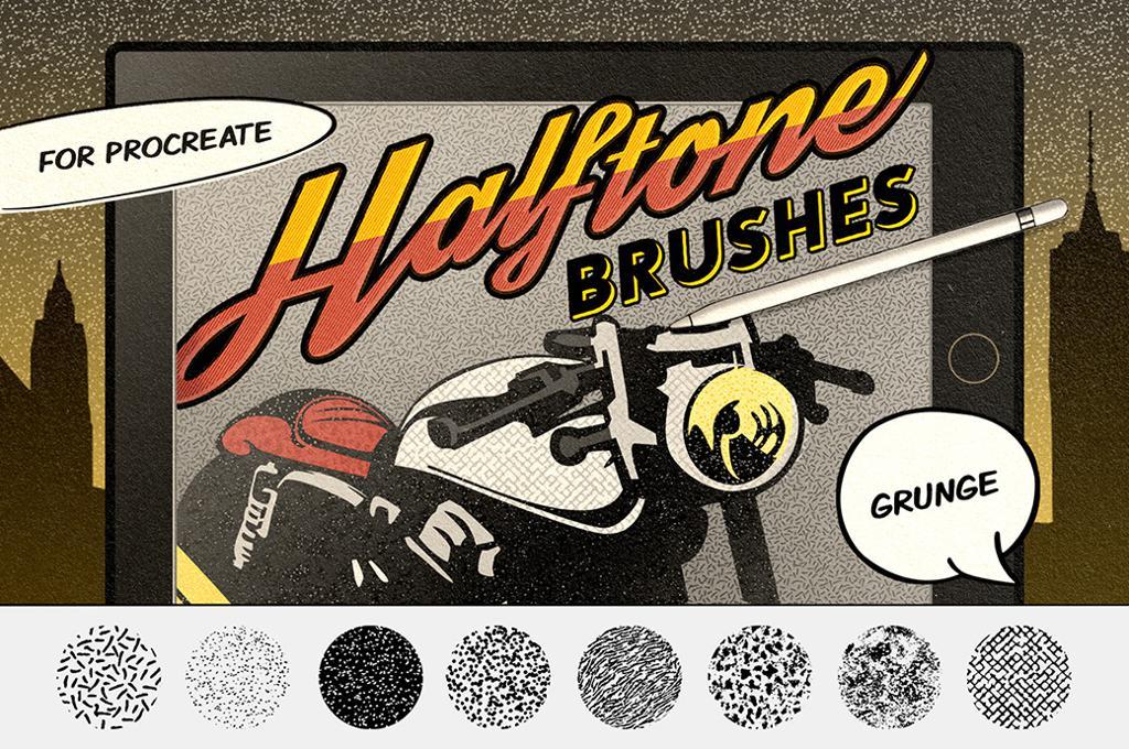 Comics Grunge Procreate Brushes