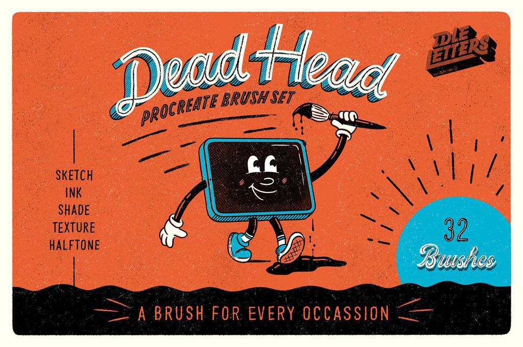 Dead Head Procreate Brush Set