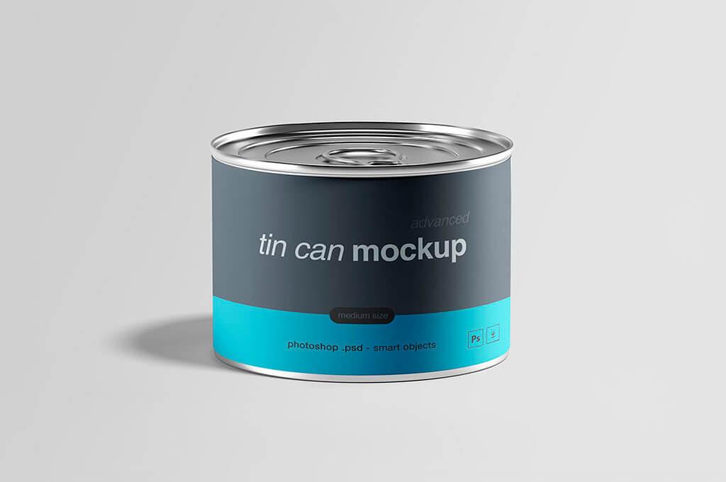 Free Download Tin Can Mockup