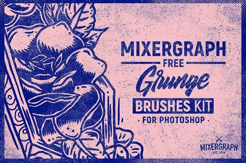 Free Grunge Photoshop Brushes Kit