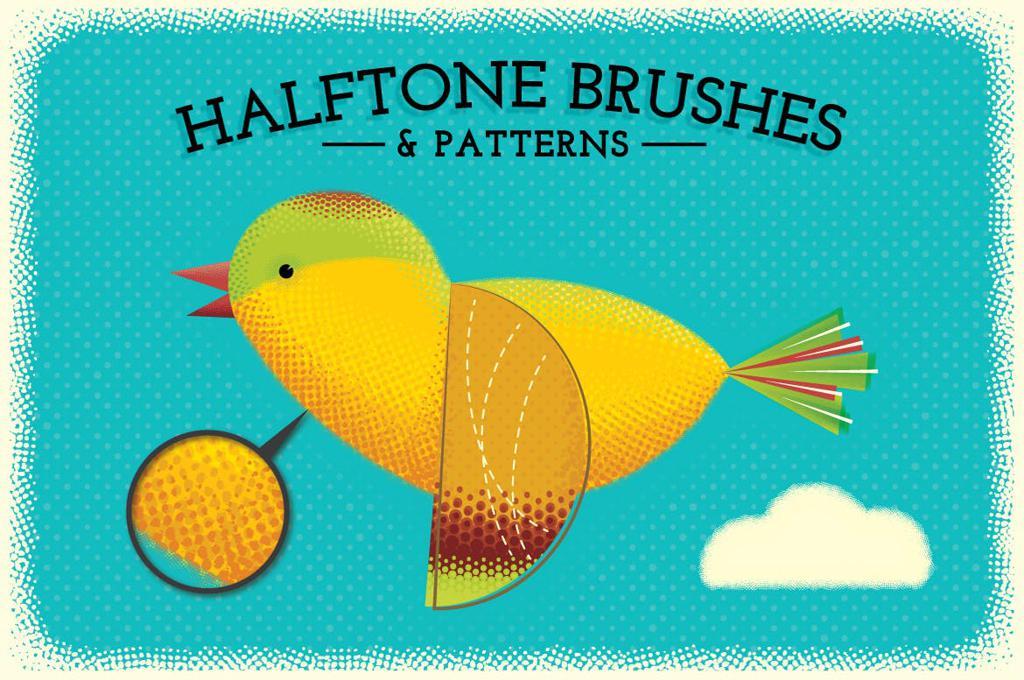Halftone Brushes + Bonus Patterns
