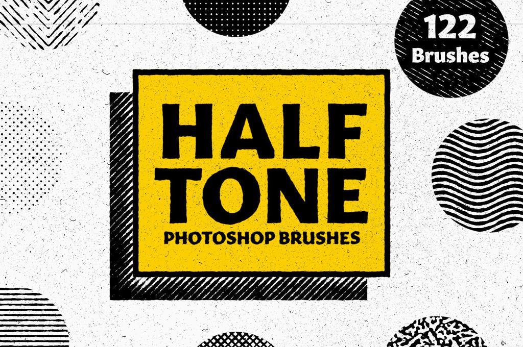 Halftone Brushes for Photoshop