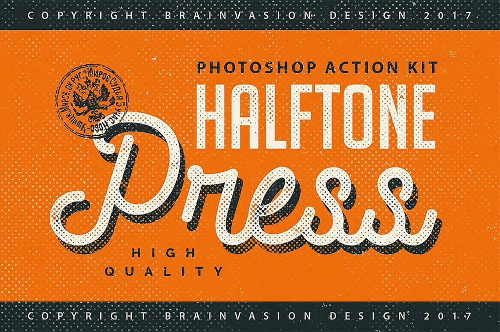 Halftone Press Photoshop Kit