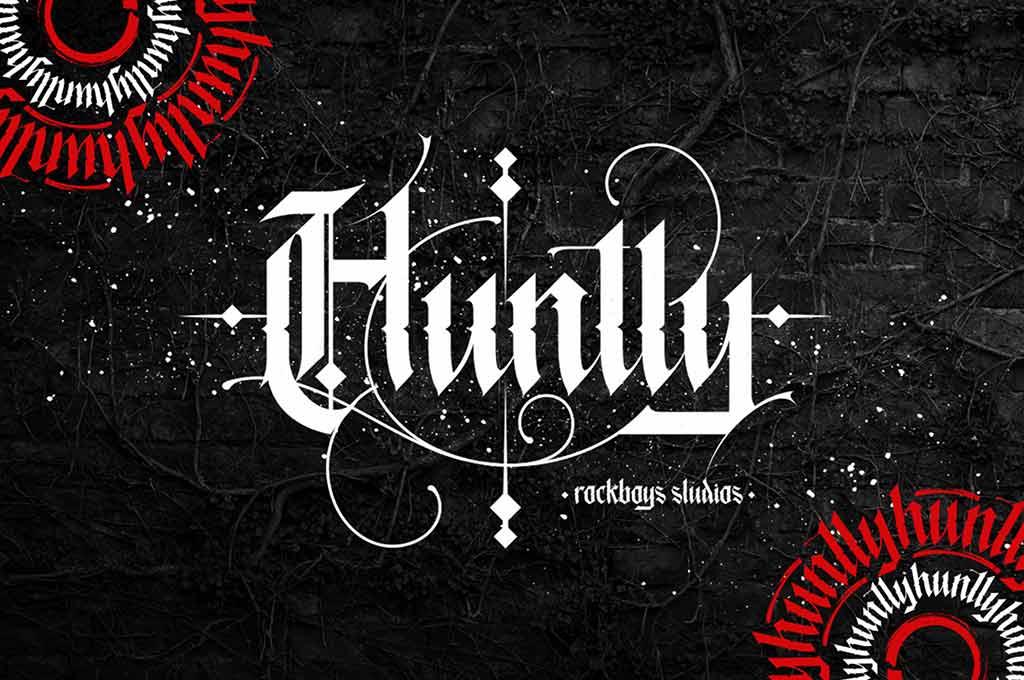 Huntly — Blackletter Font
